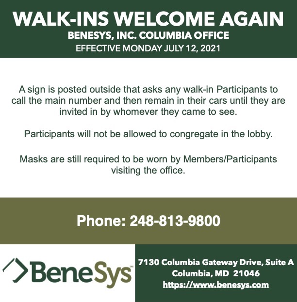 BeneSys, Inc. Is Welcoming Walk-Ins Once Again